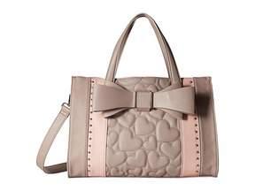 Betsey Johnson Quilted Bow Satchel Satchel Handbags