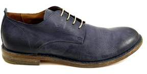 Moma Men's Blue Leather Lace-up Shoes.