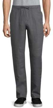 Saks Fifth Avenue BLACK Drawstring Linen Pants
