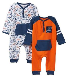DKNY DK Taxi Coveralls - Pack of 2 (Baby Boys 0-9M)