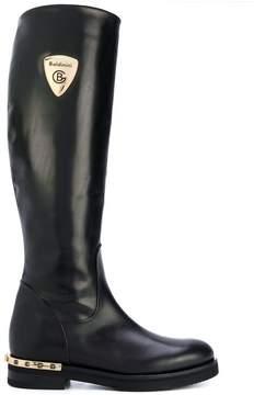 Baldinini logo plaque mid-calf boots