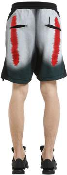 11 By Boris Bidjan Saberi Distortion Print Cotton Jersey Shorts