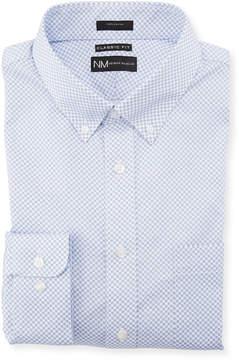 Neiman Marcus Classic-Fit Foulard Print Sport Shirt, Blue/White