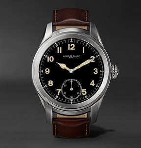 Montblanc Summit 46mm Titanium And Leather Smartwatch