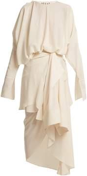 Awake Draped shirt-overlay dress