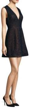 Laundry by Shelli Segal Metallic Jacquard Mini Dress