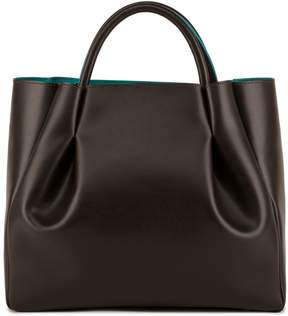 Alexandra de Curtis - Ashley Midi Ruched Tote Brown