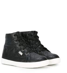 Karl Lagerfeld quilted hi-top sneakers