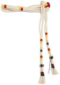 Saint Laurent Striped rope belt