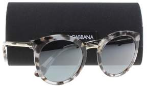 Dolce & Gabbana DG4268 28886G Cube Havana Fog Cat Eye Sunglasses