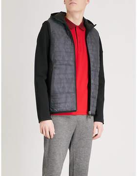 BOSS GREEN Contrast-sleeve shell-down jacket