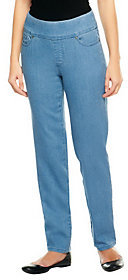 Denim & Co. As Is Tall How Smooth Straight Leg Pull-On-Jeans