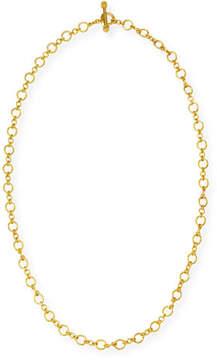 Elizabeth Locke Riviera 19k Gold Link Necklace, 31L