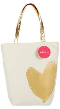 Kate Aspen Metallic Gold Heart Tote Bag