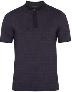 Giorgio Armani Fantasia checked-jersey polo shirt