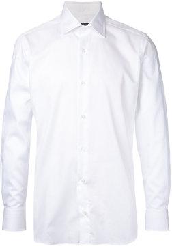 ESTNATION curved hem shirt