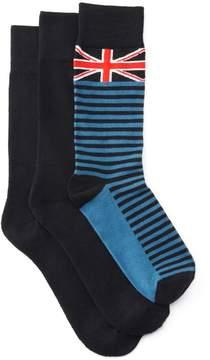Clarks Men's 3-Pack Brit Socks