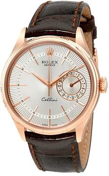 Rolex Cellini Silver Dial 18K Everose Gold Men's Watch