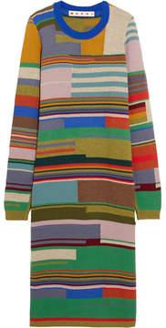Marni - Striped Wool-blend Tunic - Green