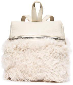 KARA Shearling Small Backpack