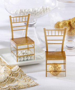 Gold Chiavari Chair Favor Box - Set of 24