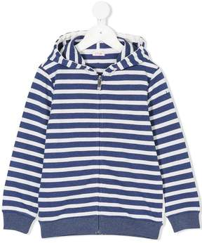 Il Gufo striped zipped hoodie