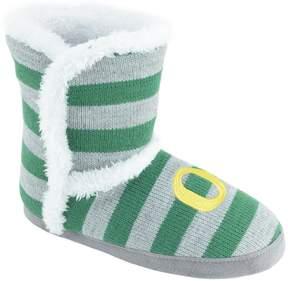NCAA Women's Oregon Ducks Striped Boot Slippers