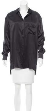 Alexandre Vauthier Oversize Silk Blouse w/ Tags