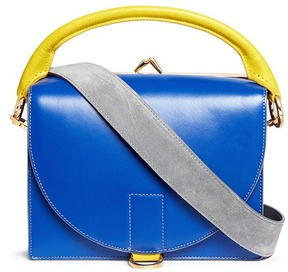 Sacai 'Hybrid' colourblock leather satchel