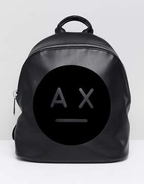 Armani Exchange face logo backpack