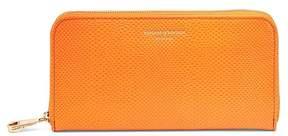 Aspinal of London | Continental Clutch Zip Wallet In Orange Lizard | Orange lizard