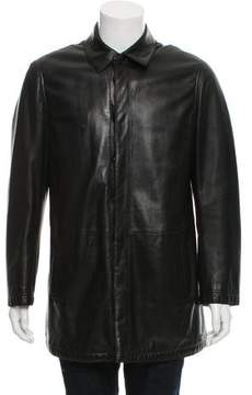 Armani Collezioni Wool-Lined Leather Jacket