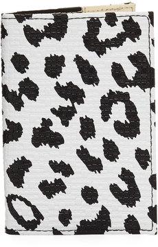 Neiman Marcus Leopard-Print Passport Case, Multi
