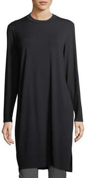 Eileen Fisher Long-Sleeve Knee-Length Jersey Tunic