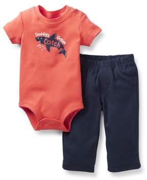 Carter's Baby Clothing Outfit Boys 2-Piece Shark Bodysuit & Pant Set Red NB