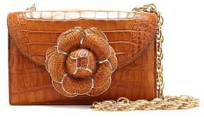 Oscar de la Renta Cognac Alligator TRO Bag