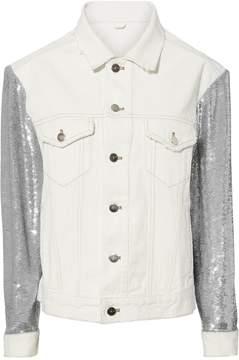IRO Sequined White Denim Jacket