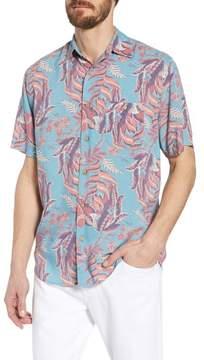 Faherty Hawaiian Print Sport Shirt