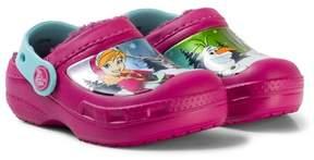 Crocs Pink Disney Frozen Fur Lined Clogs