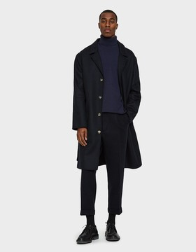 Beams 1 Pleat Trousers in Navy