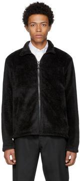 Our Legacy Black Fleece Zip-Up Sweater