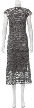 Christian Siriano Guipure Lace Wool-Blend Dress w/ Tags