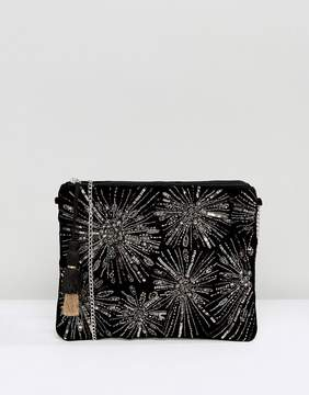 New Look Firework Embroidery Clutch