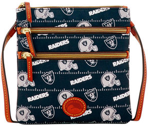 Dooney & Bourke Oakland Raiders Nylon Triple Zip Crossbody - BLACK - STYLE
