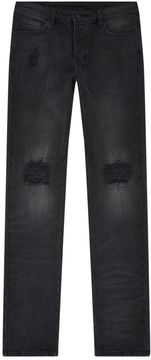 Ksubi Distressed Leather Knee Jeans