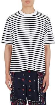 Sacai Men's Nautical-Striped Cotton T-Shirt