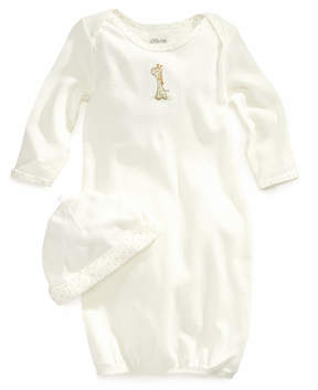 Little Me Baby Set, Baby Boys or Baby Girls Gown and Beanie