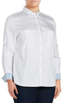 Basler Solid Point-Collar Button-Down Shirt