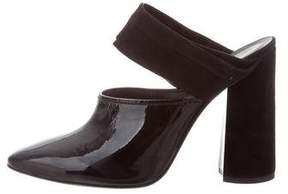 3.1 Phillip Lim Patent Leather & Suede Mules