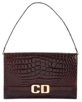 Christian Dior Alligator Shoulder Bag